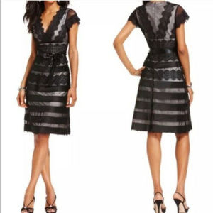 JS Collection  8 Black Lace Overlay Cocktail Dress